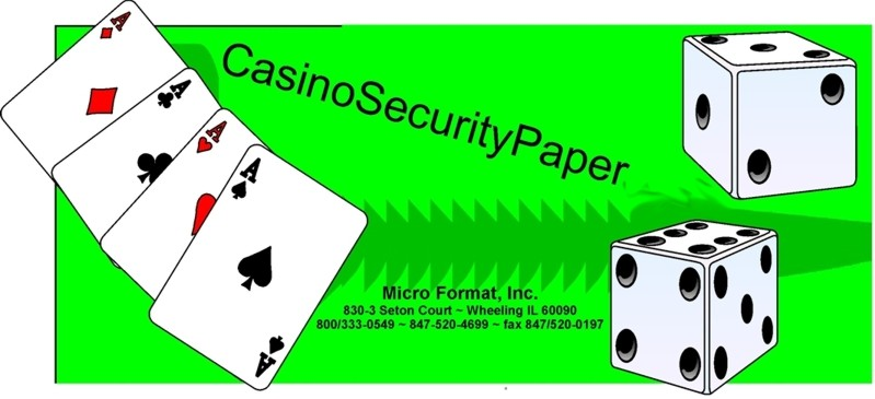 Secure artificial watermark Casino Thermal Paper Rolls